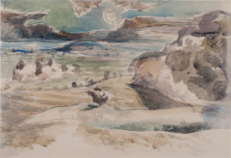 Nocturne, Landscape of the Vale, 1944 - Пол Нэш