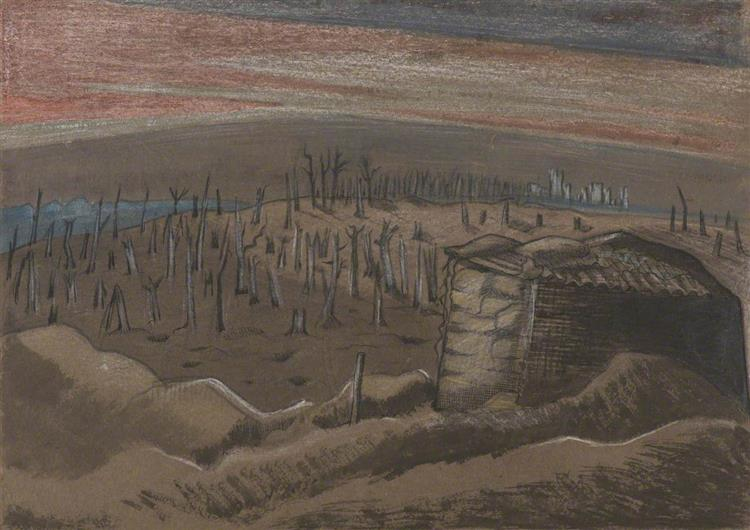 Sanctuary Wood, c.1917 - Paul Nash