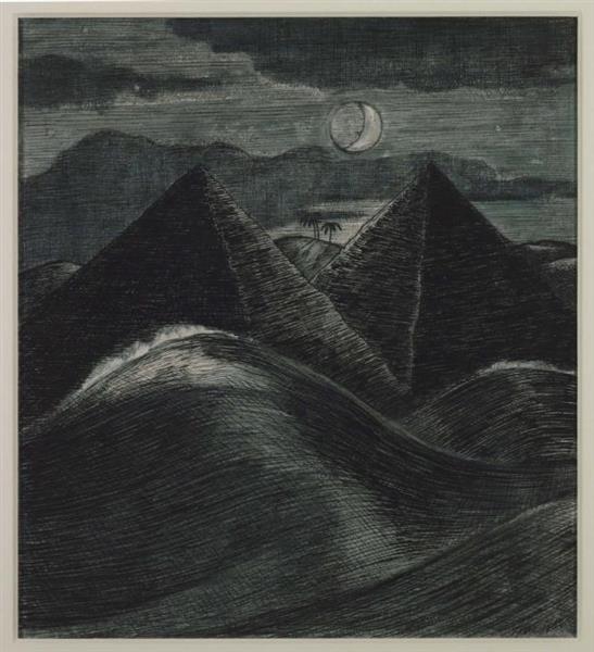 The Pyramids in the Sea, 1912 - Paul Nash