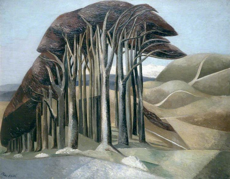 Wood on the Downs, 1929 - Paul Nash
