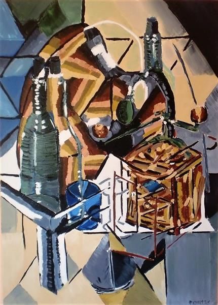 Natureza morta cubista - homenagem a Georges Braque, 2018 - Paulo Fontes