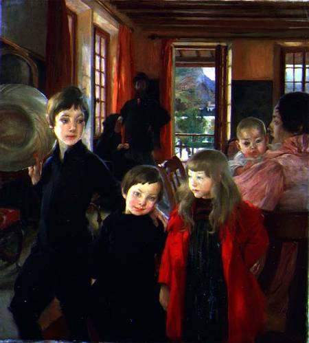 The Artist's Family - Paul-Albert Besnard