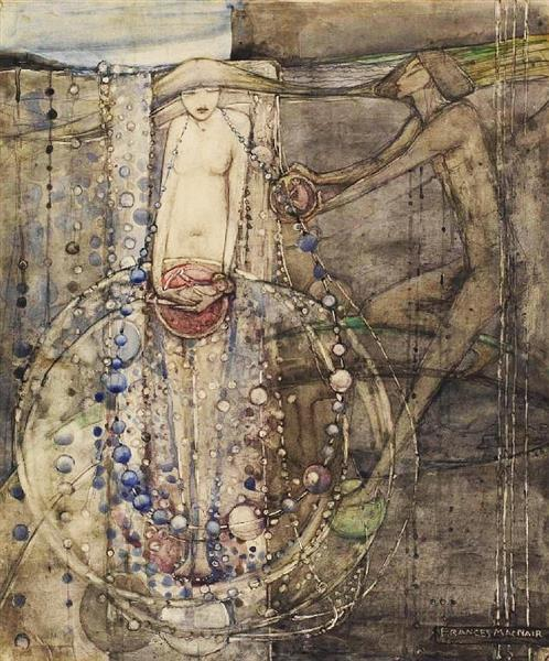 Man Makes the Beads of Life but Woman Must Thread Them - Frances Macdonald