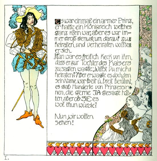 Die Prinzessin Und Der Schweinehirt 1, c.1897 - Heinrich Lefler