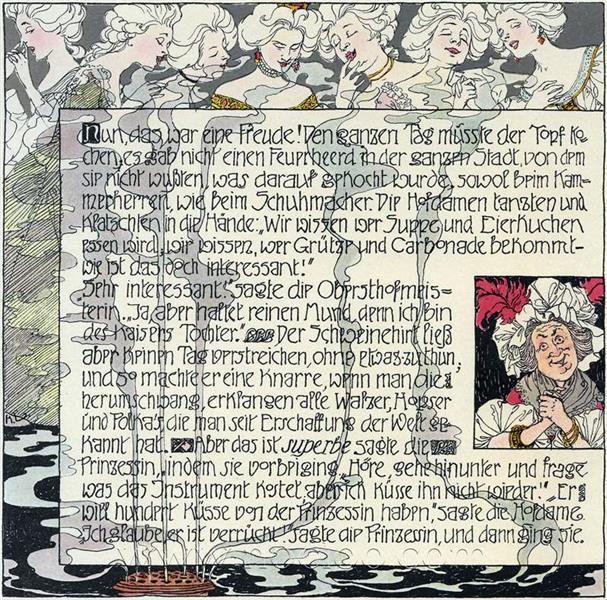Die Prinzessin und der Schweinehirt 10, c.1897 - Heinrich Lefler