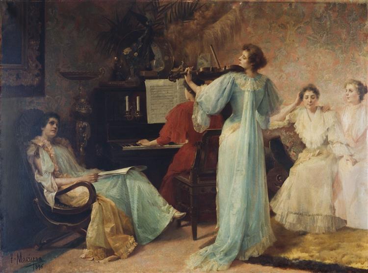 Una melodia de Schubert, c.1896 - Francesc Masriera