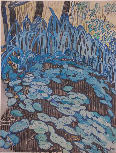 Water lilies, 1930 - Hélène Guinepied