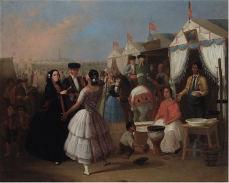 Festival in Seville - Joaquín Domínguez Bécquer