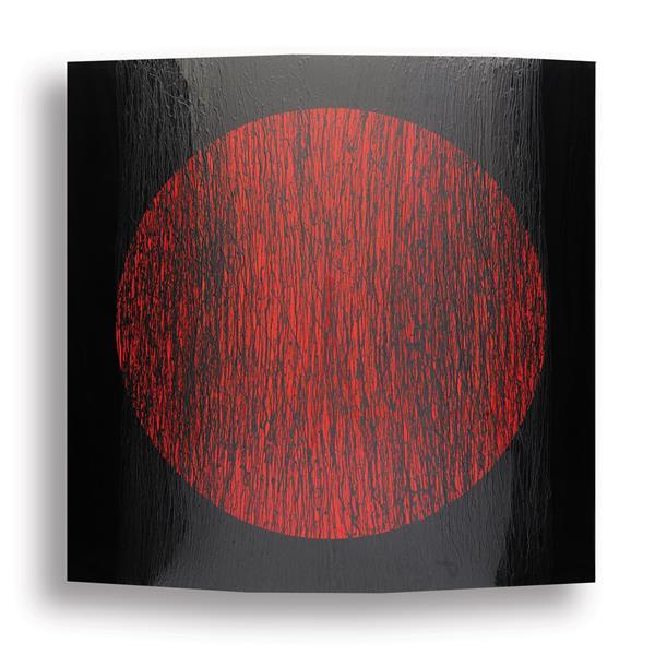BLACK WITH RED CIRCLE, 2010 - Rashid Al Khalifa