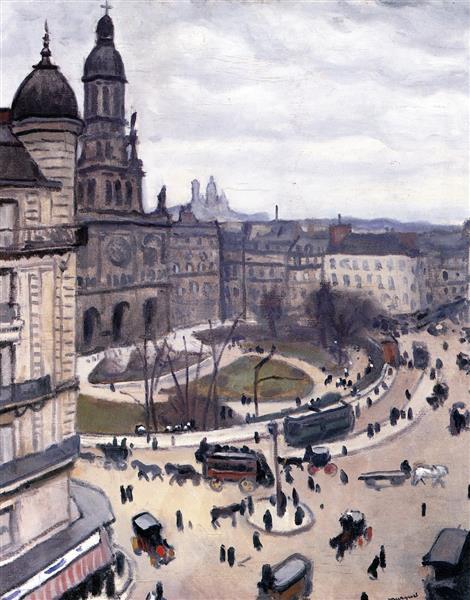 Place de la Trinity in Paris, c.1911 - Albert Marquet
