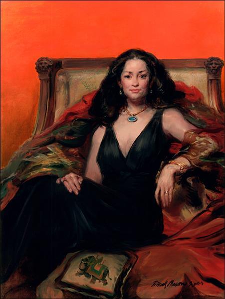 Woman in Black, c.2000 - Frank Mason