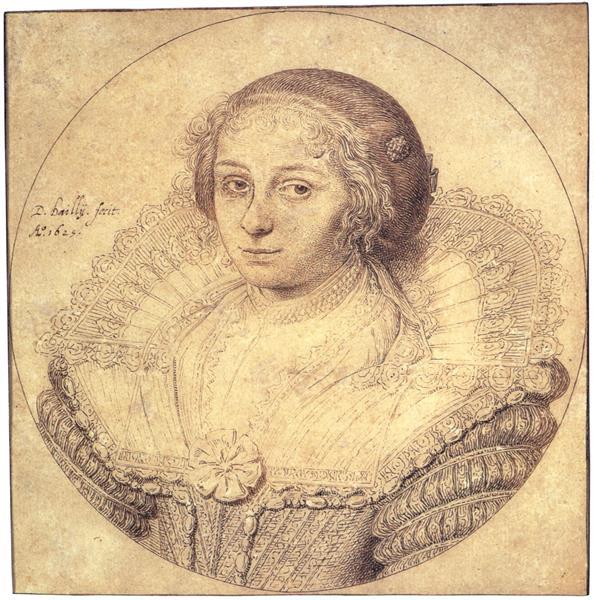 Portret Van Aertge Witsen, 1625 - David Bailly
