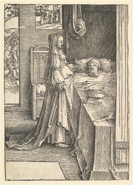 Jezebel Promising Naboth's Vineyards to King Ahab - Lucas van Leyden