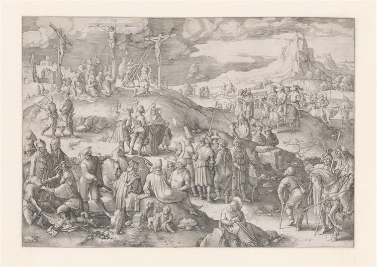 Golgotha, 1517 - Лукас ван Лейден