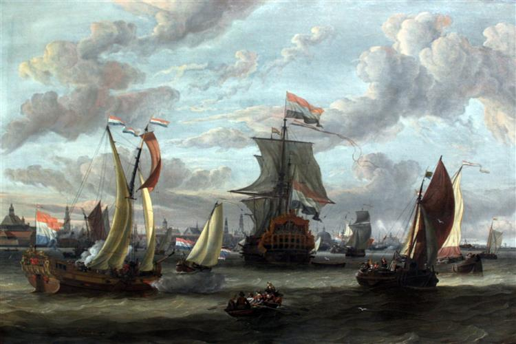View of Amsterdam with the Ij, 1690 - Abraham Storck