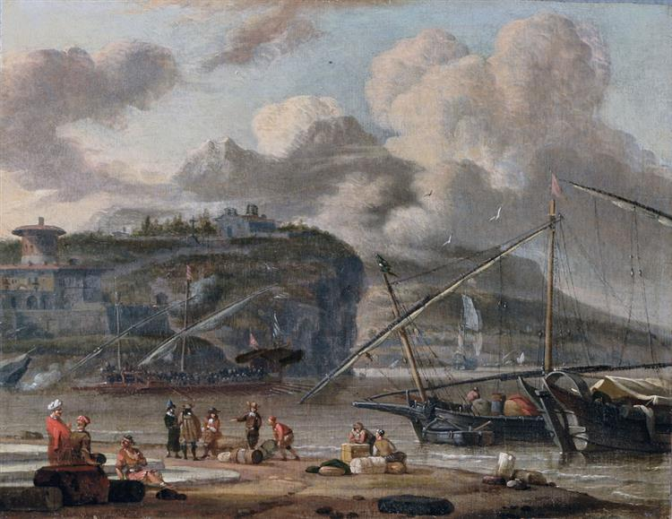 Mouth of the Mediterranean at Low Tide - Abraham Storck