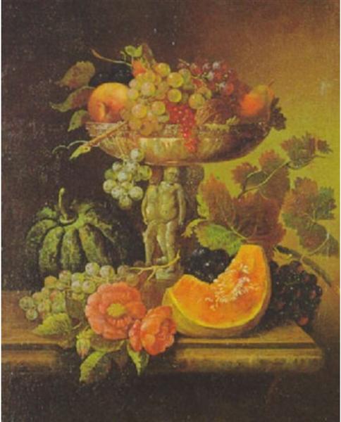 Früchtestilleben - Adalbert Schaffer