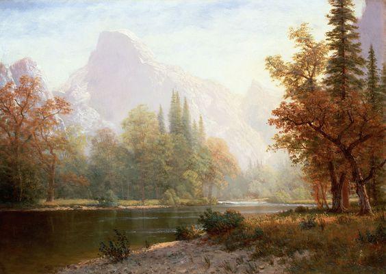 Half Dome, Yosemite - Albert Bierstadt