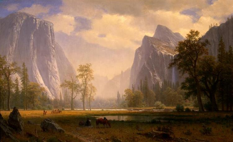 Looking Up The Yosemite Valley, 1865 - Альберт Бірштадт