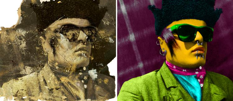 THE YOUNG MAN IN A MAZEPPA STYLE HAT (diptych), 2015 - 2016 - Babak-Matveev