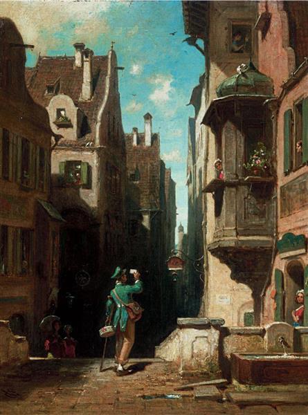 The Postman - Carl Spitzweg