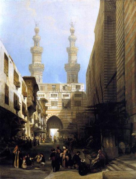 A View in Cairo, 1840 - David Roberts