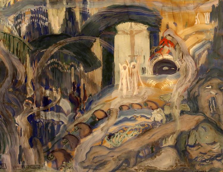 The Sunken Cathedral, 1919 - Sirak Skitnik