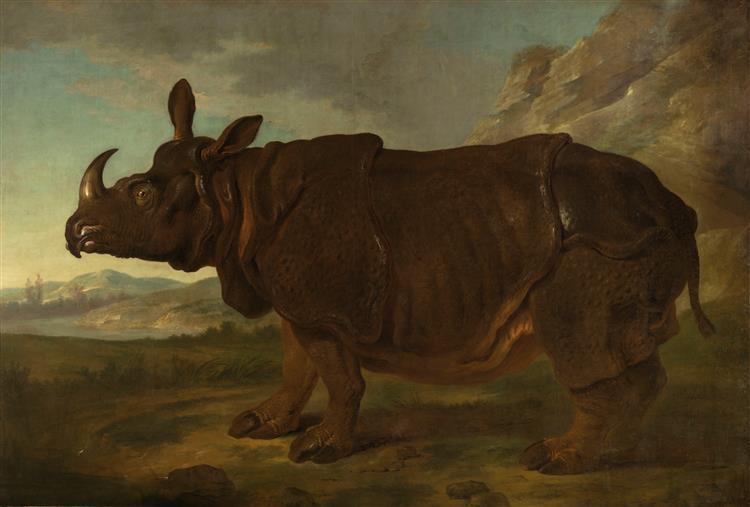 Clara the Rhinoceros, 1749 - Jean-Baptiste Oudry