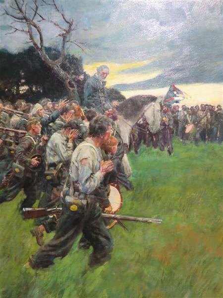 His Army Broke Up and Followed Him Weeping and Sobbing, from General Lee as I Knew Him by A.R.H. Ranson, Published in Harpers Monthly Magazine, February 1911 - Howard Pyle