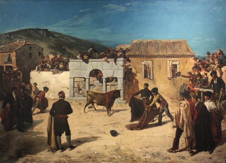 Course De Taureaux En Espagne - Alfred Dehodencq