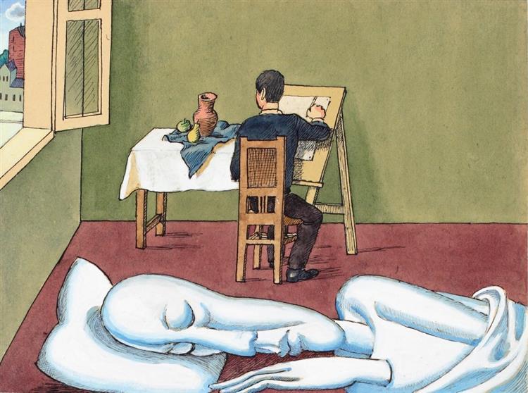 Sunday Drawing. From the Album 'Actors', 1996 - Пивоваров Виктор Дмитриевич