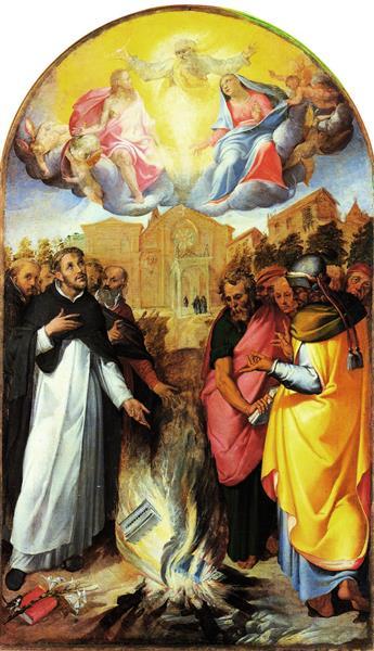 St. Dominicus and the Albigensians, c.1580 - Bartolomeo Passarotti