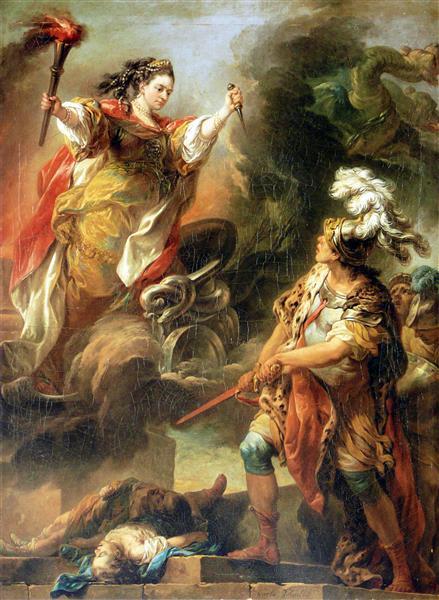 Mlle Clairon en Médée, 1760 - Шарль Андре Ван Лоо