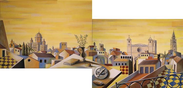 The Roofs of L'Arboç. Diptic, 2005 - Joan Tuset Suau