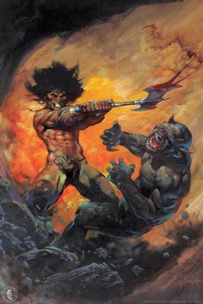 Barbarian - Frank Frazetta