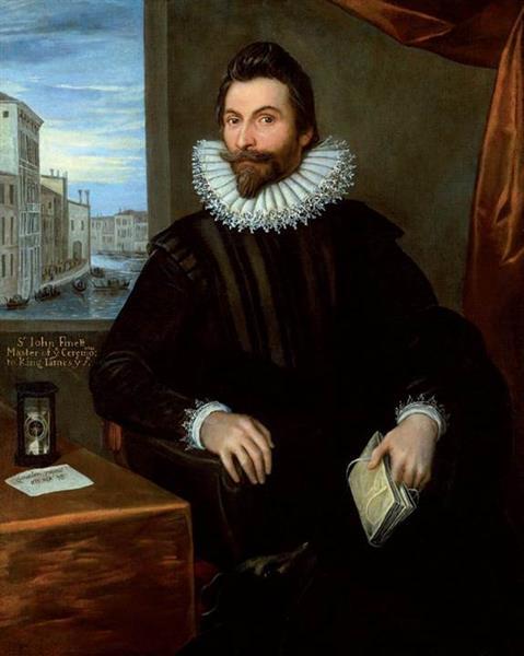 Portrait of John Finet, 1611 - Domenico Tintoretto