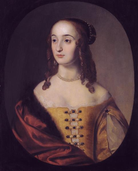 Portrait of Henriette Marie of the Palatinate - Gerard van ...