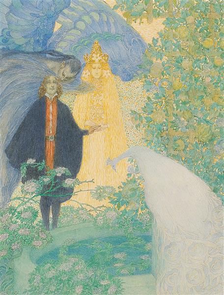 GARDEN OF PARADISE, c.1910 - Heinrich Lefler