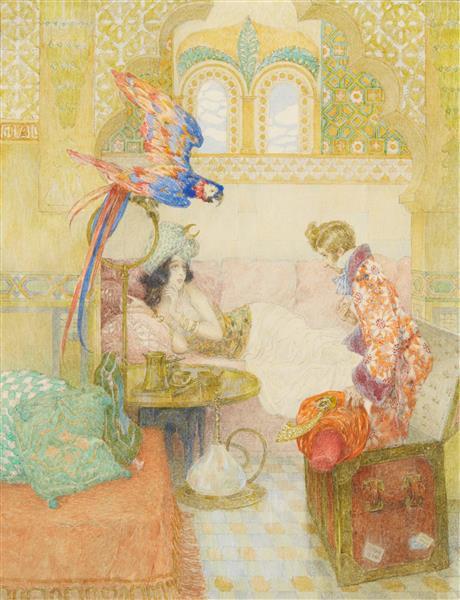THE FLYING TRUNK - Heinrich Lefler