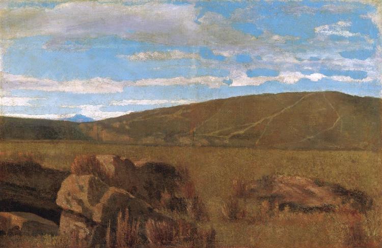 Vallata a Castiglioncello - Giuseppe Abbati