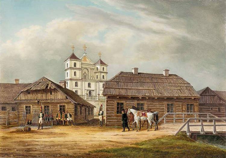 Troki. Catholic church of St. Mary, 1812 - Oswald Achenbach