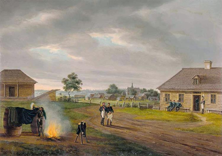Salečniki Vialikija, 1812 - Albrecht Adam