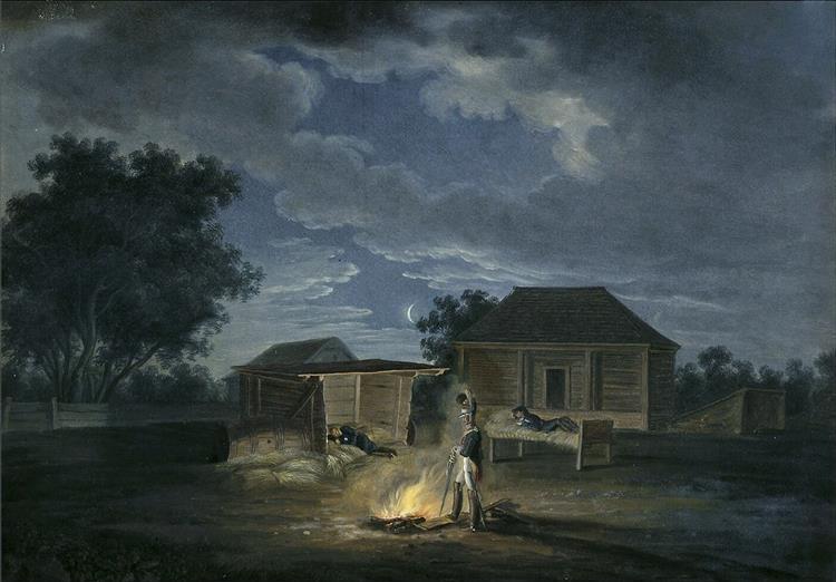 Salečniki Vialikija. Headquarters, 1812 - Albrecht Adam