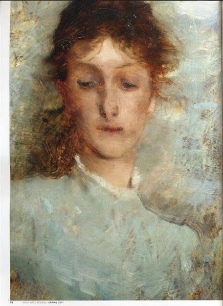 A GIRL IN BLUE, 1882 - Frank O'Meara