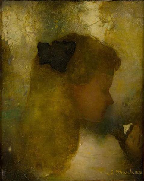 Girl with White Flower, 1911 - Jan Mankes