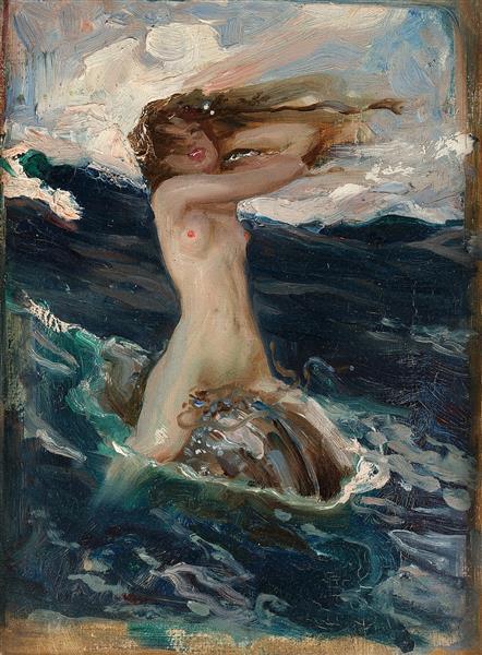The Foam Sprite (study), 1896 - Herbert James Draper
