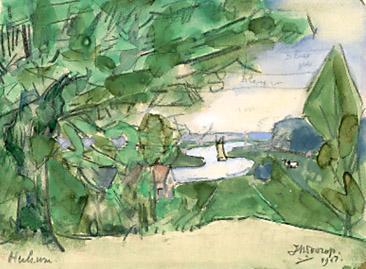 Gezicht Op De Rijn Bij Heelsum, 1917 - Jan Toorop