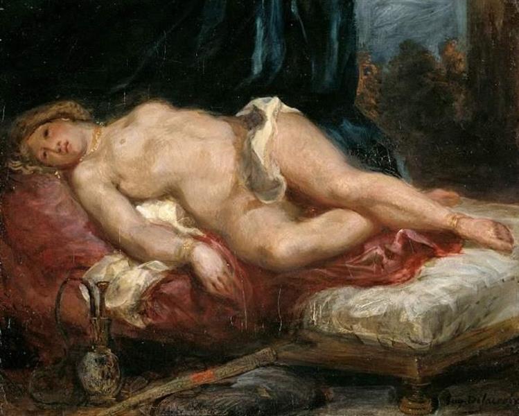 Odalisque, c.1825 - Eugene Delacroix