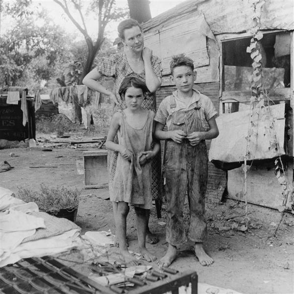 Poor Mother And Children During The Great Depression Elm Grove Oklahoma County Oklahoma Usa 1936 Dorothea Lange Wikiart Org