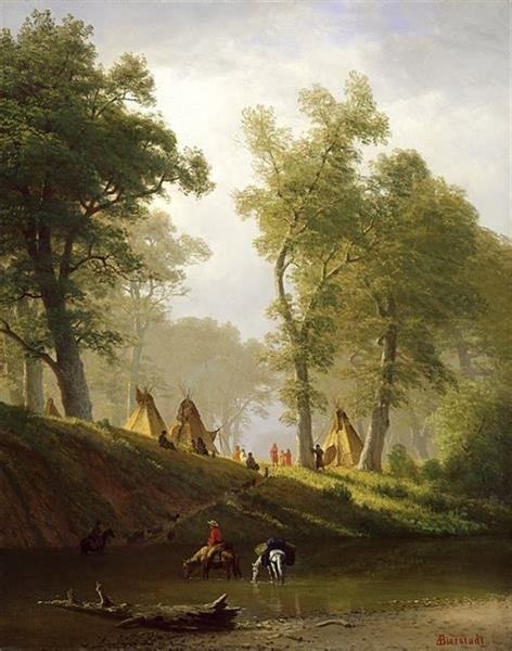The Wolf River, Kansas, c.1859 - 阿爾伯特·比爾施塔特